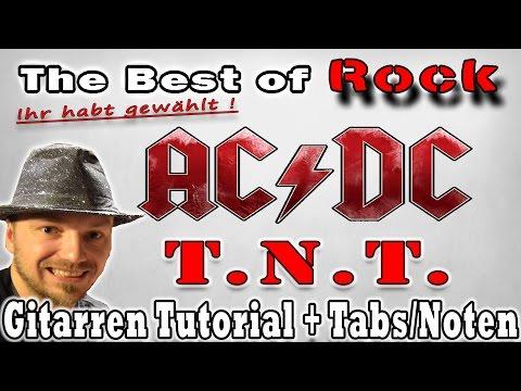 ★The Best of Rock! Ihr habt gewählt: #1 ACDC TNT | Gitarren Tutorial Tab/Noten Overhead Cam
