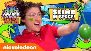 SLIME IN SPACE!  How Slime Moves in Microgravity | Kids' Choice Awards 2020 | Nick