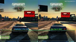 Burnout Paradise Remastered - PlayStation 4 Pro vs Xbox One X - Performance Comparison