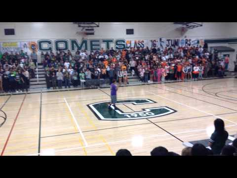 National Anthem at rally James Lick High School