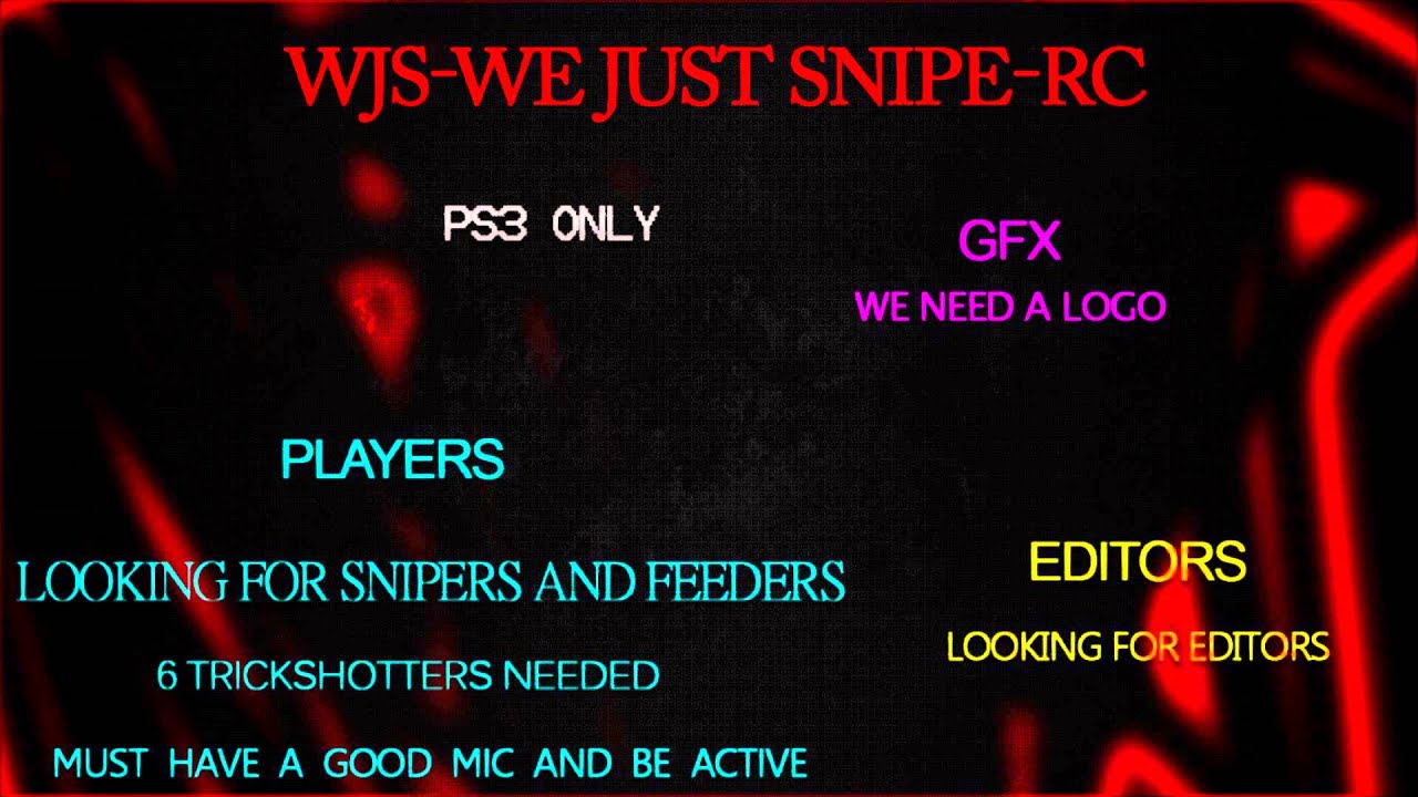 we just snipe wjs rc ps3 only youtube