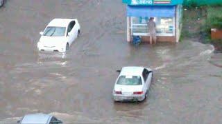 После сильного ливня Комсомольск-на-Амуре буквально ушел под воду.