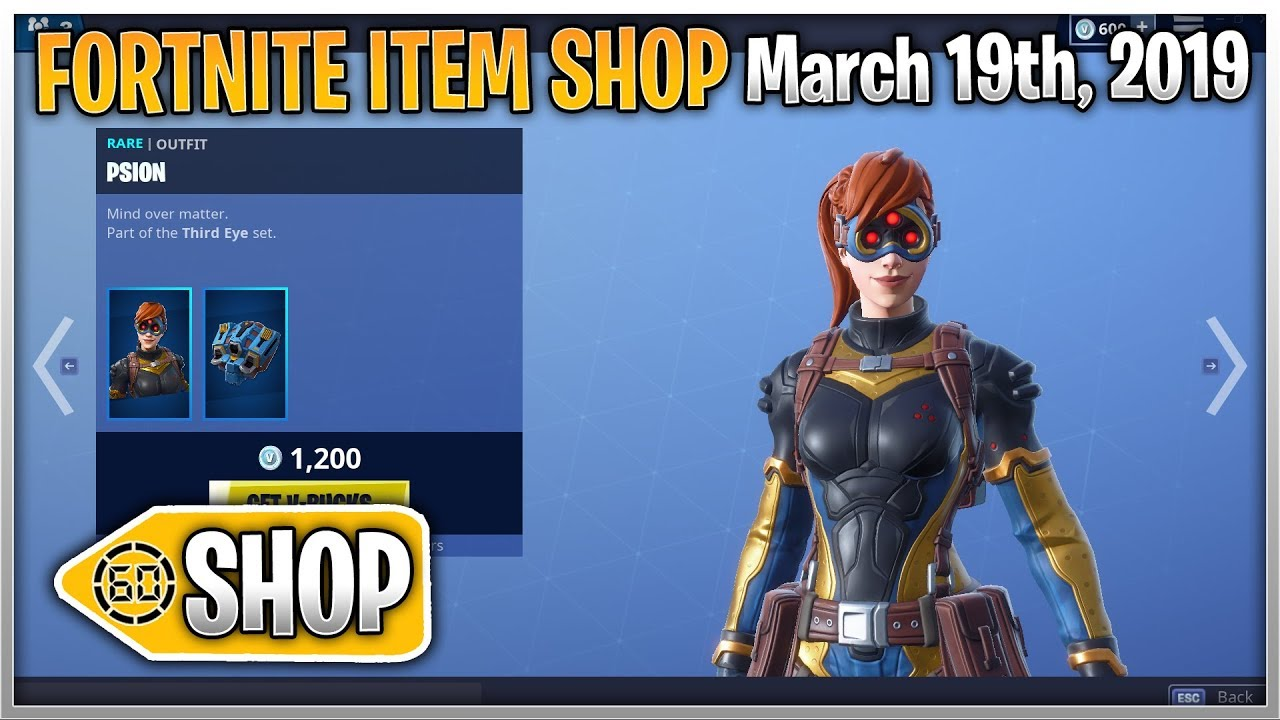 New Axium Psion Skins Fortnite Item Shop March 19th 2019