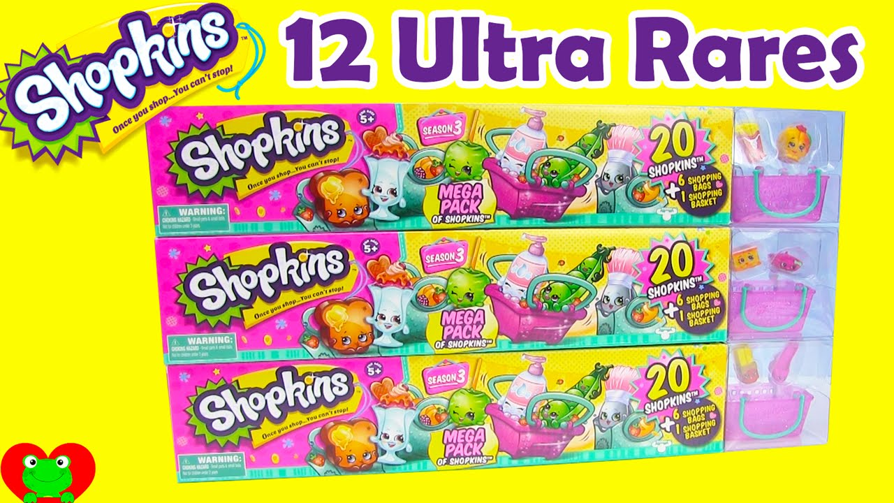 Shopkins Season 3 Mega Packs with 12 ULTRA RARES