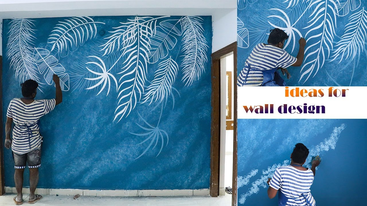 How to do wall painting designs yourself  Trendy wall designs ideas for  bedroom