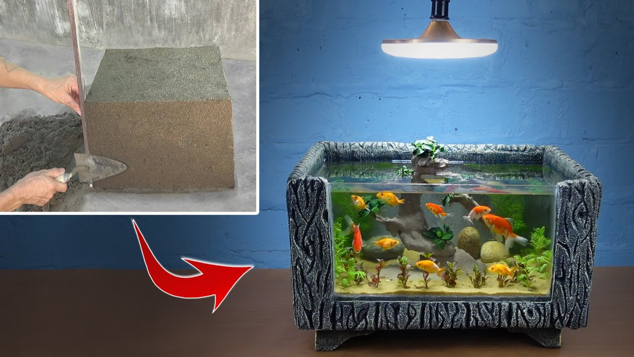 Very Easy - Build a Beautiful Aquarium Just from Cement