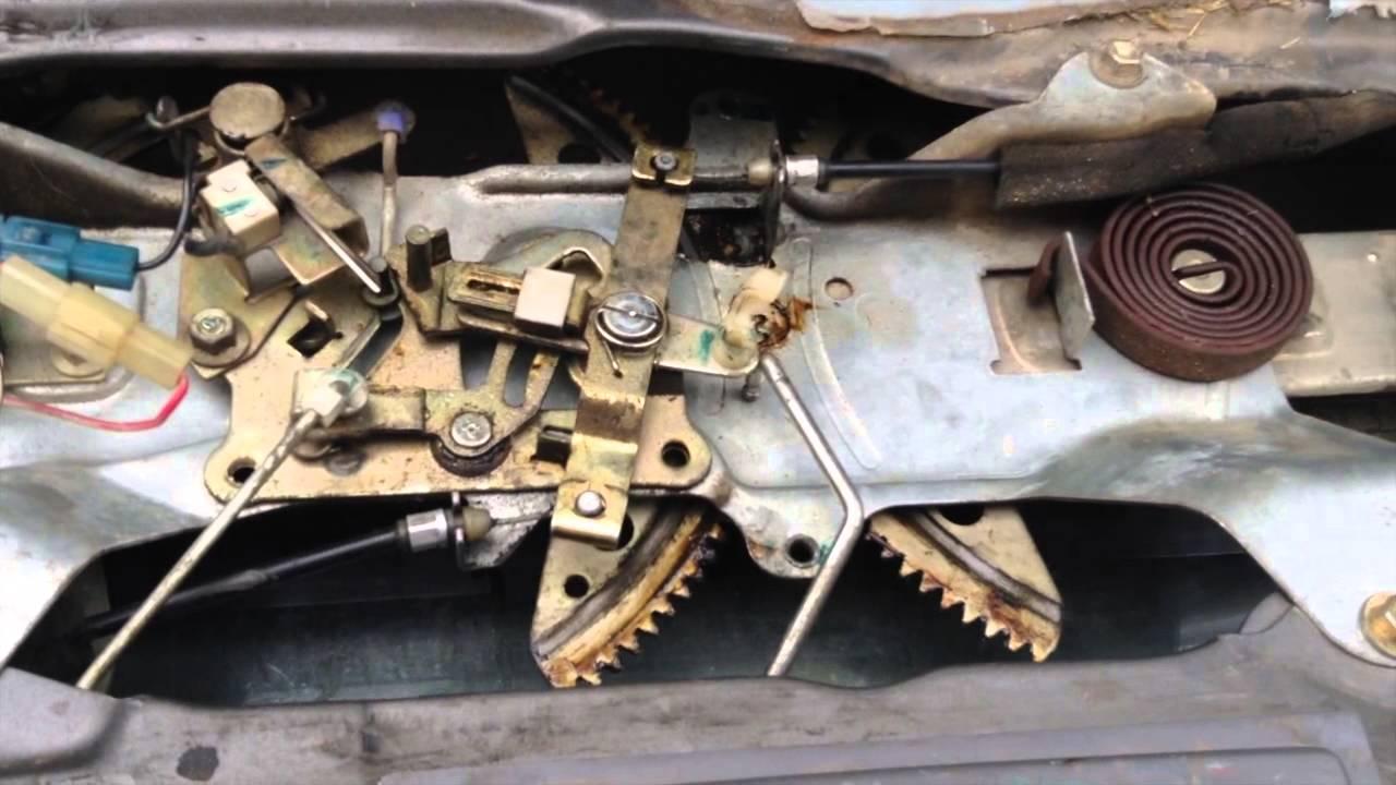 door lock actuator wiring diagram 12 volt 87 4runner back window and gate fix - youtube