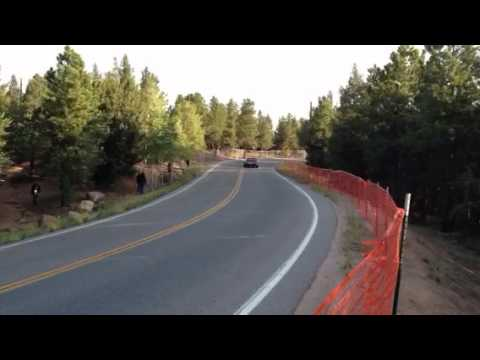 Pat Doran at the 2012 Pikes Peak Hill Climb driving the infamous Ford RS200!! Practice Day 2