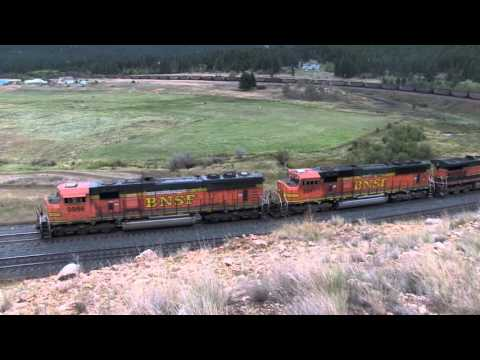 Coal train climbs mullan (LONG VIDEO)