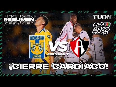 Resumen y goles | Tigres vs Atlas | Grita México BBVA AP2021 J7 | TUDN