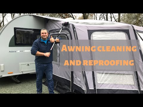Awning care, cleaning and re-proofing 2019 [CC]