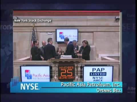 25 November 2009 Pacific Asia Petroleum inc NYSE Euronext Opening
