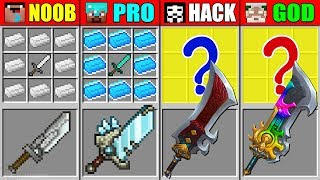 Minecraft NOOB vs PRO vs HACKER vs GOD SUPER ABILITY SWORD CRAFTING CHALLENGE in Minecraft Animation