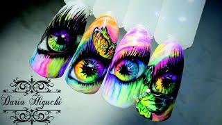 Art Дизайн Ногтей!!! Яркие Глаза!!!
