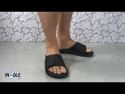 Olukai Kekoa Black Orthotic Slides for Men @TheInsoleSTore.com