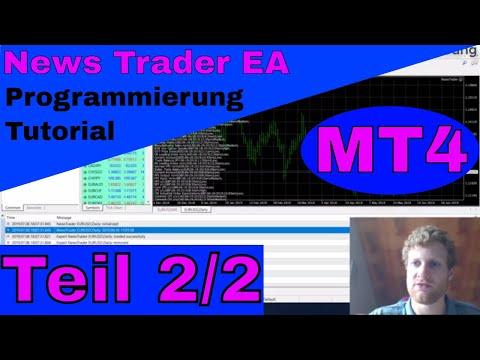 Automatisiertes News Trading mit MT4 Expert Advisor - Tutorial Teil 2