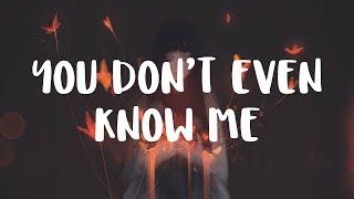 [LYRICS] SLANDER & RIOT - You Don't Even Know Me