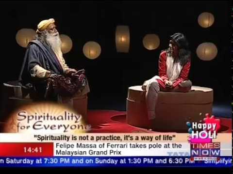 "Times Now Interviews Sadhguru on ""Spirituality for Everyone"""