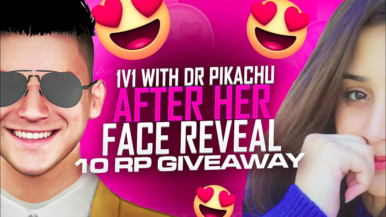 1 v 1 with Dr Pikachu After Her Face Reveal 😍 | 10 RP Giveaway | VIRUS GAMING