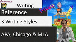 3 Writing Styles - APA, Chicago & MLA (Examrace - Dr. Manishika)
