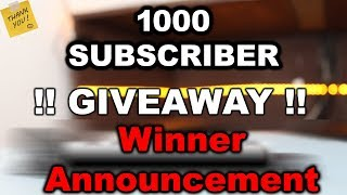 !! Giveaway !! Winner Announcement   Thanks to all members for support   ViralVirus   2018