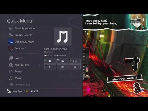 PS4 - How To Play Any MP3 Music While Playing Persona 5 Without BGM?