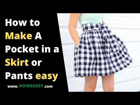 aa39d61807 Howeasyy.com how to make a pocket in a skirt or pants easy - YouTube