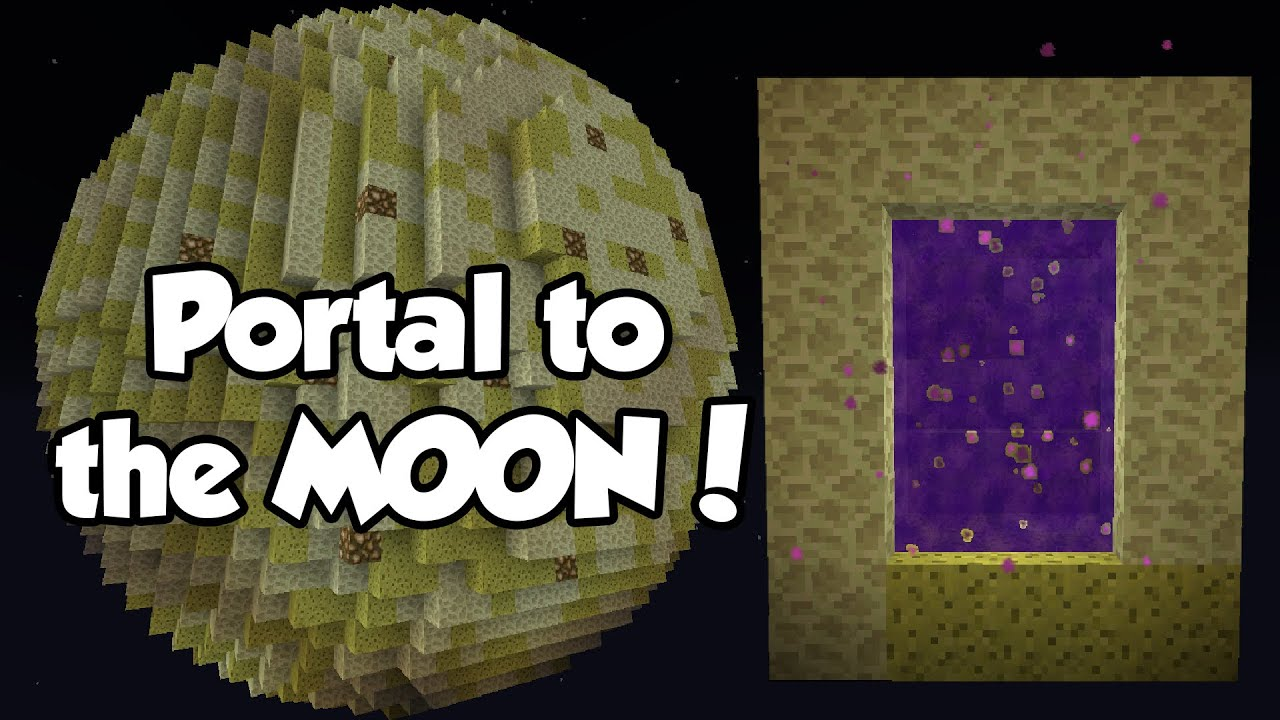 Minecraft how to make a portal to the moon for N portal