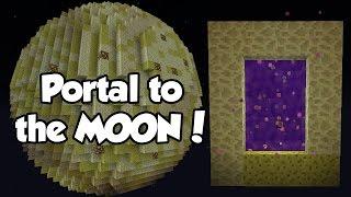 How to Make a PORTALto the MOON (No Mods) | Minecraft