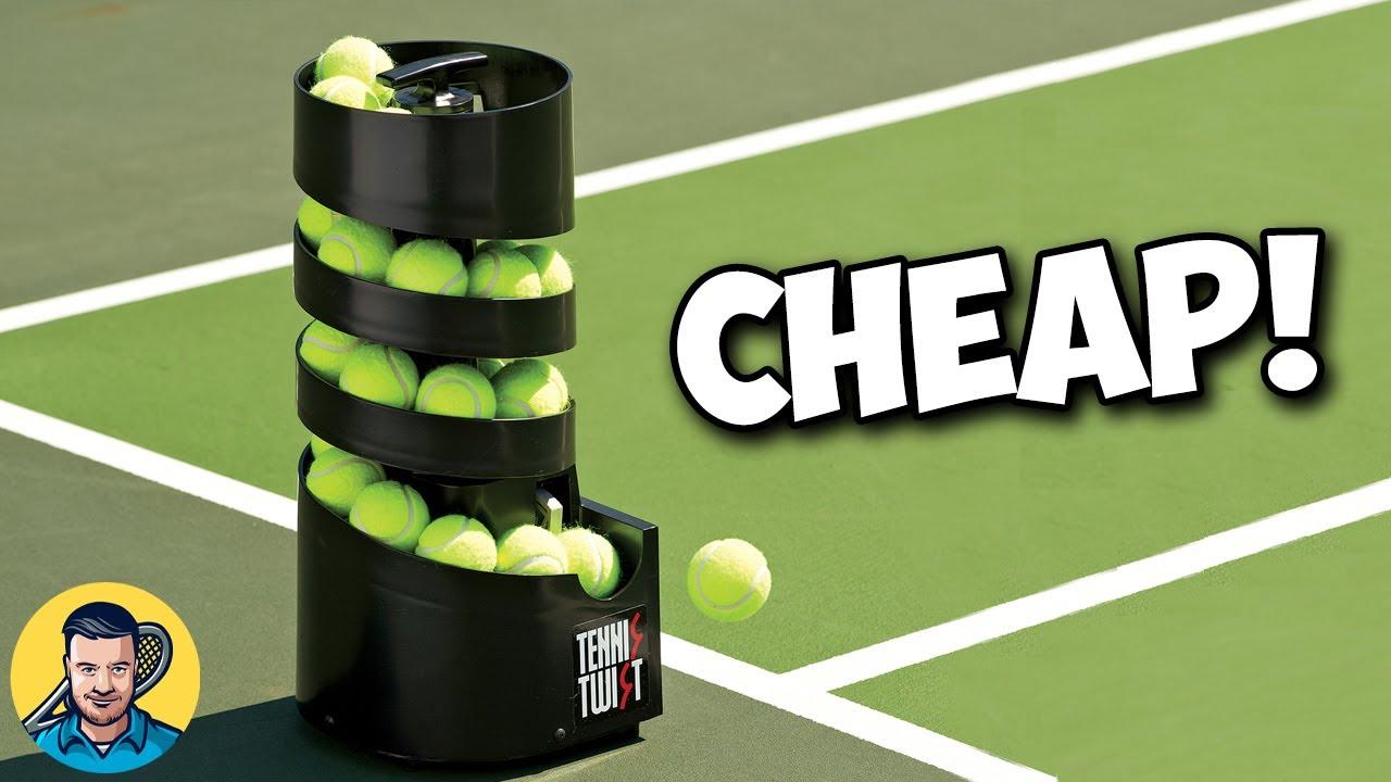 Cheap Tennis Ball Machine Tennis Twist Review Youtube