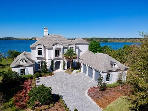 Orlando Luxury New Homes - Bella Collina Custom Lakefront Pool Home $3,500,000!