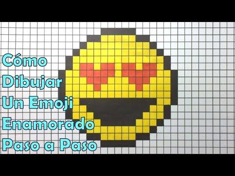 Como Dibujar Un Emoji Enamorado En 8 Bit O Pixel Art Tutorial