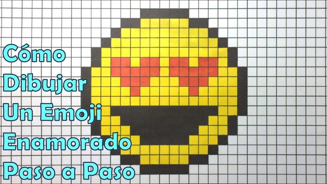 Cómo Dibujar un Emoji Enamorado en 8 bit o Pixel Art! TUTORIAL ...