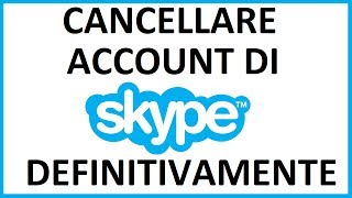 Come Cancellare Account Di Skype Definitivamente Da Pc Come Eliminare Account Skype Youtube