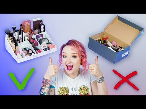 DIY: ORGANIZER na kosmetyki z kartonu po butach + KONKURS! ♡ Red Lipstick Monster ♡