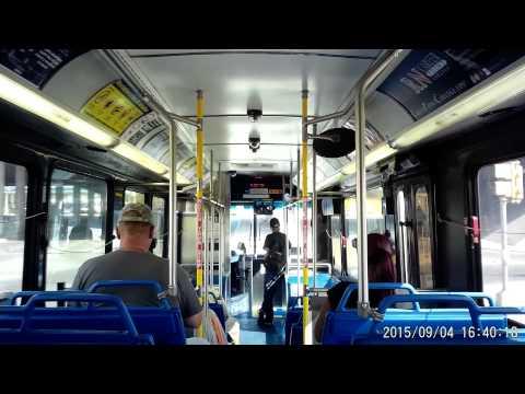 VIA bus route 5O2 in San Antonio, Texas on Friday September 04, 2015