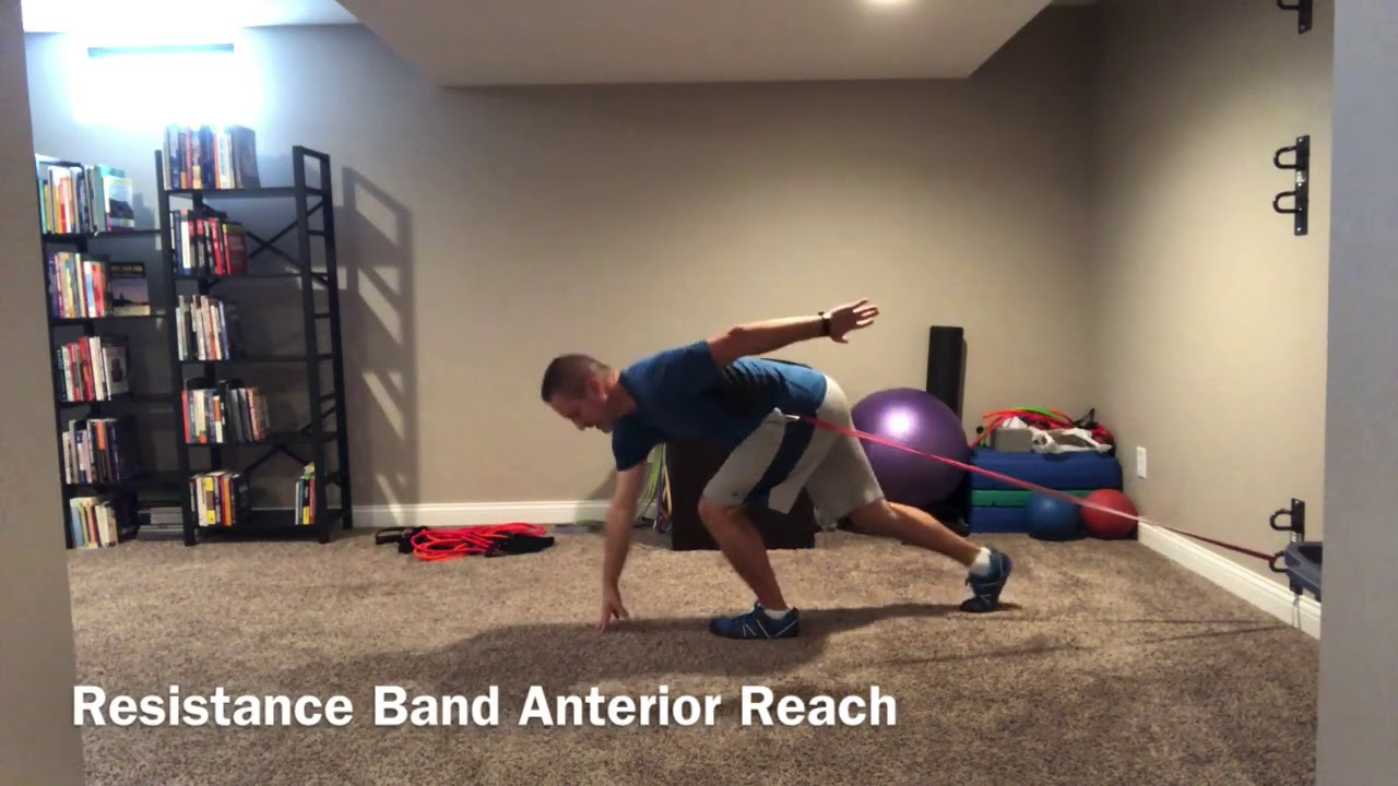 Resistance Ban Anterior Reach to Fix 2 Common Weakness We See in Youth Athletes