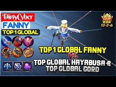 Top 1 Global Fanny VS Top Global Hayabusa & Top Global Gord [ D̶ir̶ty̶Cyber Fanny ] Mobile Legends