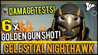 Destiny: Celestial Nighthawk Exotic Review! Damage Tests with Crota, Skolas W/ Solar Burn, & More!
