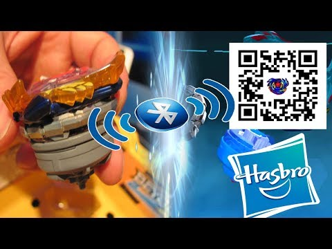 BEYBLADE BURST app via BLUETOOTH technology allowing players to spin left, spin right