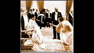 England Queen Elizabeth bow for black African Ethiopian emperor Haile selassie