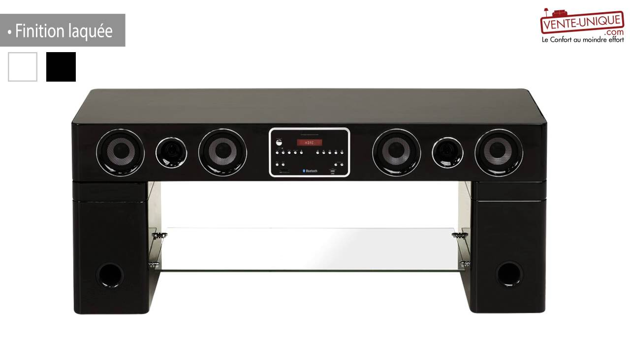 Meuble Tv Home Cinema Integre Watts Ii Bluetooth Youtube