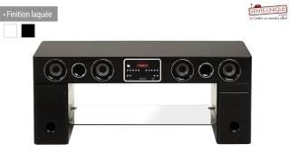 meuble tv home cinema integre watts ii bluetooth