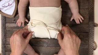Подгузники на завязках из хлопка