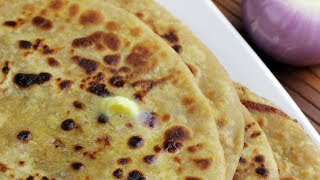 Onion Paratha Punjabi Recipe   Pyaz ka paratha   Easy breakfast recipe   Village Travel Food