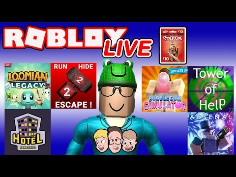 Roblox LIVE with Schlamaddy | Loomian Legacy, Hotel & More | Robux Giveaway | Family Friendly