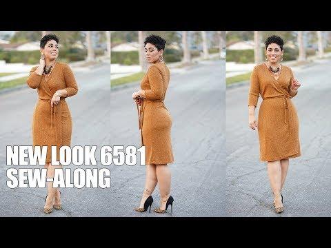 NEW LOOK 6581 WRAP DRESS SEW-ALONG