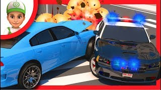 Police car chase for children. Sergeant Cooper for kids. Police Car for kids. policeman games.