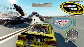 Nascar 15 The Game: Talladega Superspeedway Crash Compilation