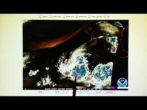 5-16-2018; Satellite Transmitter Superheats Massive Thunderstorm System In Eastern Pacific